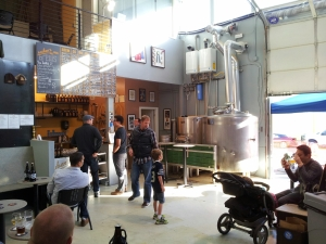 A sunny day at Reuben's Brews, one of Ballard's newest and more reputable breweries.